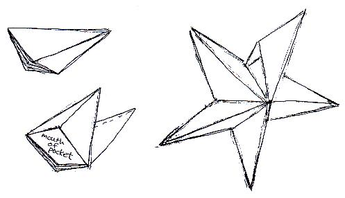 Five-pointed 3D Star