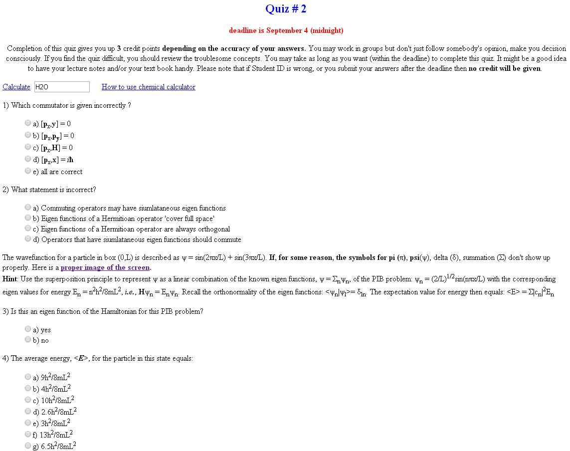 Hint Use The Superposition Principle To Represent ψ As A Linear Combination Of Known Eigen Functions Σnψn Pib Problem ψn